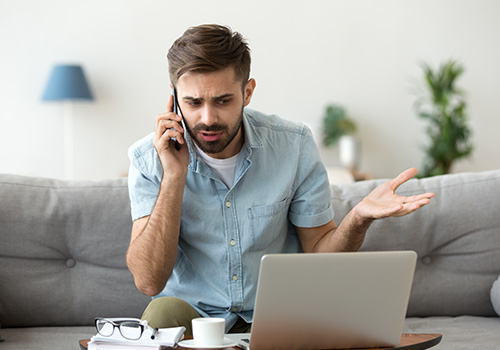 Distressed Man Confused Over Spam Phone Call